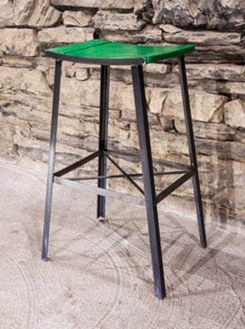 Vanguard Reclaimed Wood Bar Stool in Green