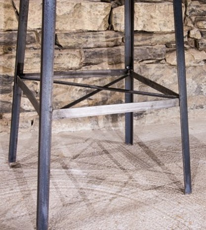 Welded Industrial Chic Metal Leg Bar Stool