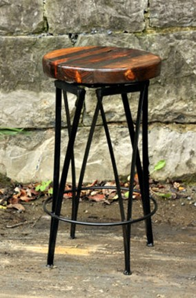 Reclaimed Wood Bar Stools #FTW The Dirty (Baker's) Dozen