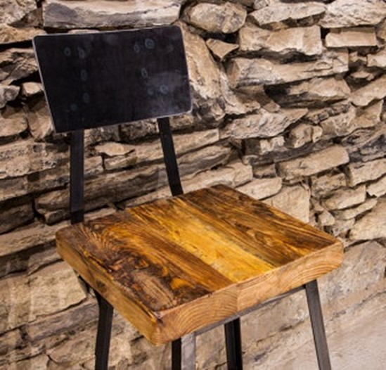 Clive Reclaimed Wood Bar Stool