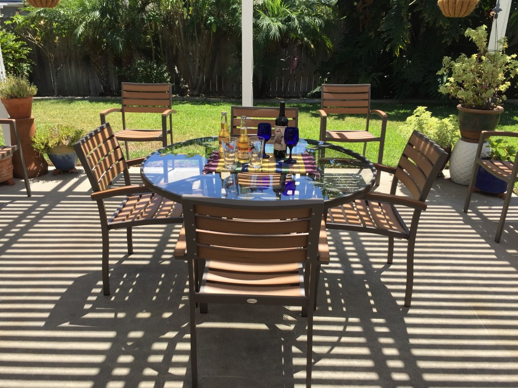 Miami Teak Composite Arm Chairs