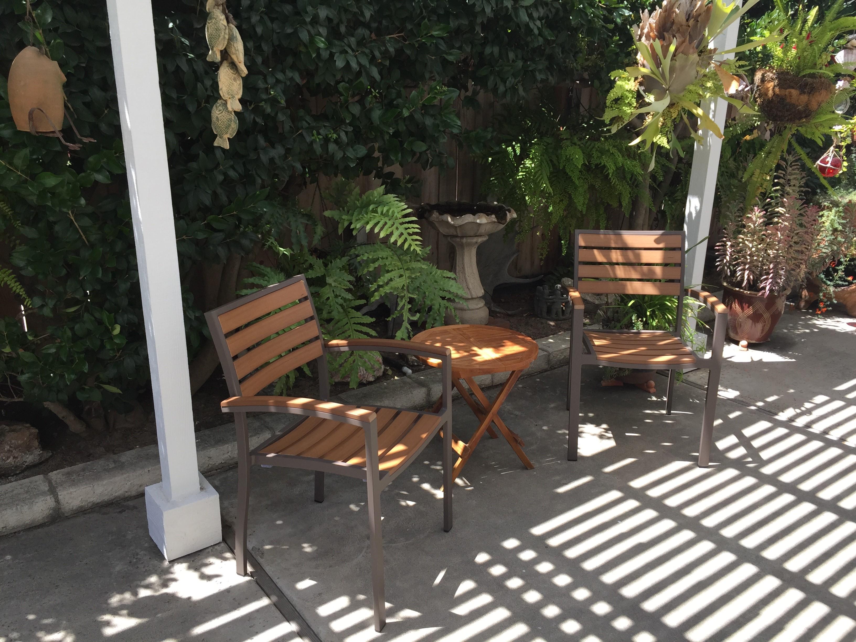 Teak posite Chairs for Residential Design