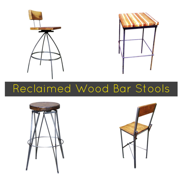 The Dirty (Baker's) Dozen Reclaimed Wood Bar Stools #FTW
