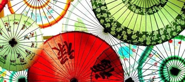 An array of umbrellas